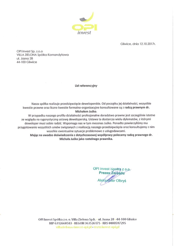 OPI Invest Villa Zielona